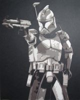 Commander Wolffe by Papergizmo