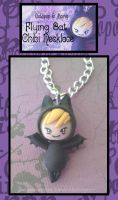 Flying Bat Chibi Necklace by Octopop-n-Aicing