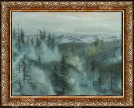 My latest painting scanned and virtually framed :) by Joachimingulstad