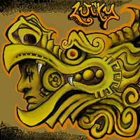 SQB Aztec Dragon Lucky Tribal by MayanMuscle