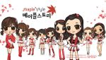 snsd chibi maple story by squeegool