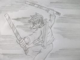 Rough Sketch:Raymundo in Action! by MarcGo26
