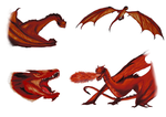 Random Smaug based dragon by amaryllis-bloom