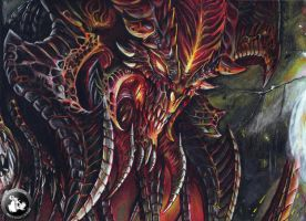 Diablo drawing (DIABLO III) by KondaArt