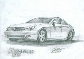 mercedes cls Sketch by ShadyDesigns