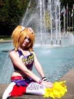 By the Fountain Blue by MermaidSushiCosplay