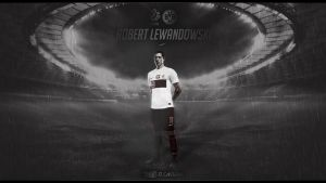 Lewandowski Wallpaper ft Canturan by EsegaGraphic