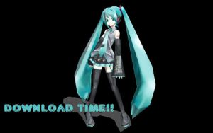 MMD Miku boxart pose dl by cupidgirl3000