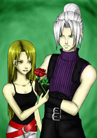 Sephy and Aurora by Oriash