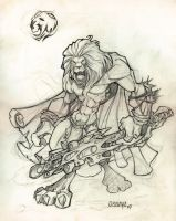 sketch lion by osnaya