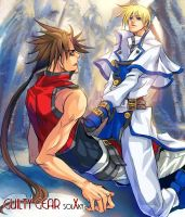 guilty gear-Sol x Ky by egosun