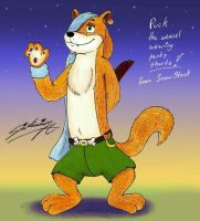 Puck the weasel with pants shorts! by SagaFantasticArt30
