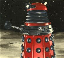 Red Dalek by Marc137