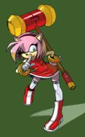Amy Rose color by kevinsano