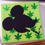 Smoking Mickey Silhouette by Angulique