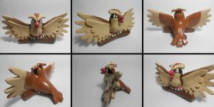 Pidgey Sculpture Multi Views by Sara121089