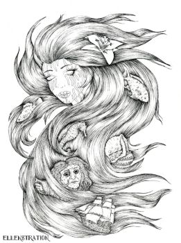 The little Mermaid by EllenStration