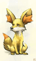 Fennekin Waiting... by aokamidu