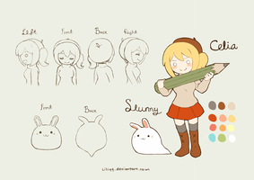 Character Design : Celia and Slunny by liliyy