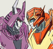 Cyclonus and Rodimus by Jit-Seven