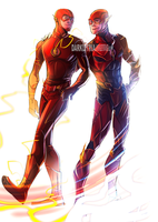 Ezra and Grant as the Flash by DarkLitria
