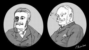 Gilbert and Sullivan Portraits by BlueBirdie