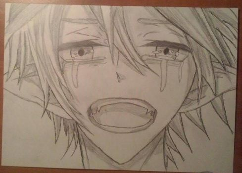Crying anime boy by TheAphelius