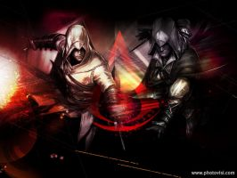 Assassins Creed - Altair and Ezio wallpaper by DarkemoBlood