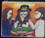 Sketchbook Drawing 32 - Poker Night by TheEmily1220