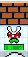 Super Mario Bros Knit Pattern2 by colormist
