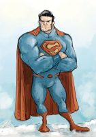 Superman waiting by fifoux