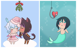 OC Holiday Chibis by Teddybear-93