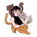 Selena and kitties by msciuto