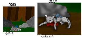 Bluestar's Mother Death 2 Years Difference by Wyeth-Kitty
