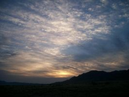 Clouded New Mexico Sunset by Snakelady39