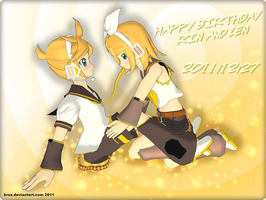 MMD Happy Birthday Rin and Len 2011 by brsa