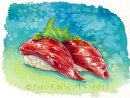 Tuna Nigiri by thornwolf