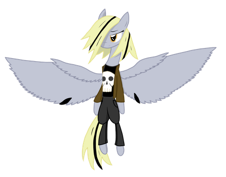 Derpy, The Goth by DerpyD00