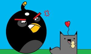 Angry Birds And Kitty by That-Adorable-Cat