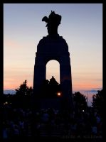 Unknown Soldier at Sunset by almightyblah
