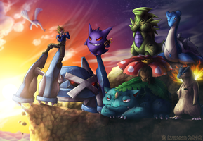 Commission: Sky's Team by Deltheor