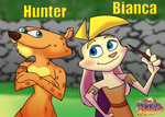Hunter And Bianca from Spyro by Silverkey101
