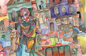 colorful city by agnz