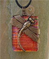 Dragonfly Wraped Fused Glass by FusedElegance