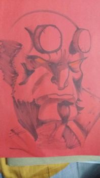 Hellboy by grace-ern