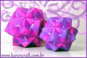 Kusudama - Purple Sonobes by KarenKaren