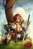 Red Riding Hood steampunk cover by MichaelDooney
