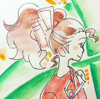 Arrietty Watercolor Study by adrawer4ever