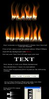 Flame Text Tutorial by ninjanamedjt