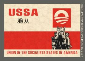 Obama: Chairman of the USSA by Conservatoons